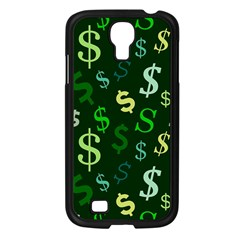 Money Us Dollar Green Samsung Galaxy S4 I9500/ I9505 Case (black) by Mariart