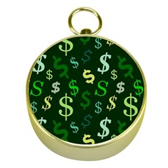 Money Us Dollar Green Gold Compasses by Mariart