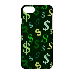 Money Us Dollar Green Apple Iphone 7 Hardshell Case by Mariart