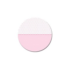 Love Polka Dot White Pink Line Golf Ball Marker (4 Pack) by Mariart