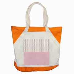Love Polka Dot White Pink Line Accent Tote Bag by Mariart