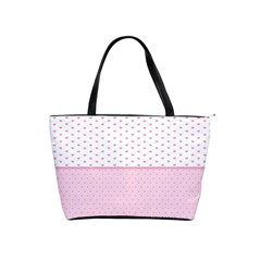Love Polka Dot White Pink Line Shoulder Handbags by Mariart
