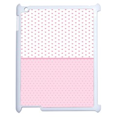 Love Polka Dot White Pink Line Apple Ipad 2 Case (white) by Mariart