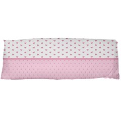 Love Polka Dot White Pink Line Body Pillow Case (dakimakura) by Mariart