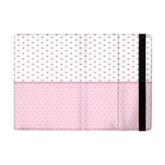 Love Polka Dot White Pink Line Ipad Mini 2 Flip Cases by Mariart