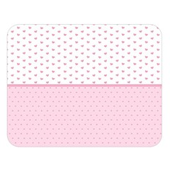 Love Polka Dot White Pink Line Double Sided Flano Blanket (large)  by Mariart