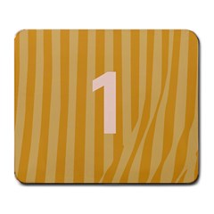 Number 1 Line Vertical Yellow Pink Orange Wave Chevron Large Mousepads by Mariart
