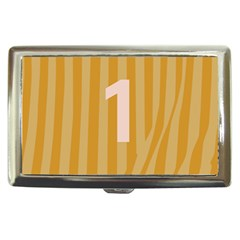 Number 1 Line Vertical Yellow Pink Orange Wave Chevron Cigarette Money Cases