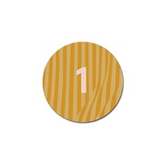 Number 1 Line Vertical Yellow Pink Orange Wave Chevron Golf Ball Marker (10 Pack) by Mariart