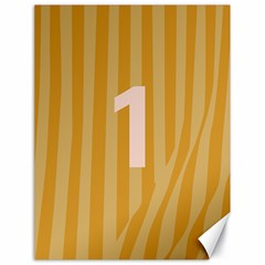 Number 1 Line Vertical Yellow Pink Orange Wave Chevron Canvas 18  X 24   by Mariart