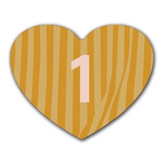 Number 1 Line Vertical Yellow Pink Orange Wave Chevron Heart Mousepads by Mariart