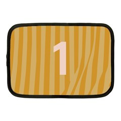 Number 1 Line Vertical Yellow Pink Orange Wave Chevron Netbook Case (medium)  by Mariart
