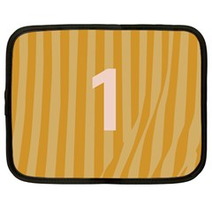 Number 1 Line Vertical Yellow Pink Orange Wave Chevron Netbook Case (large) by Mariart