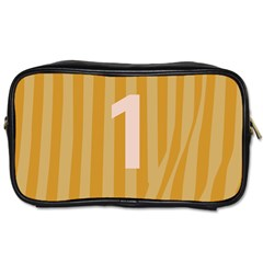 Number 1 Line Vertical Yellow Pink Orange Wave Chevron Toiletries Bags 2 Side by Mariart