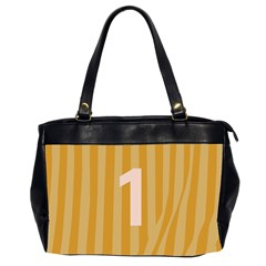 Number 1 Line Vertical Yellow Pink Orange Wave Chevron Office Handbags (2 Sides)  by Mariart