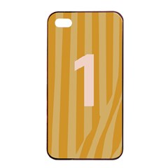 Number 1 Line Vertical Yellow Pink Orange Wave Chevron Apple Iphone 4/4s Seamless Case (black) by Mariart