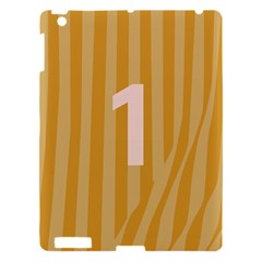Number 1 Line Vertical Yellow Pink Orange Wave Chevron Apple Ipad 3/4 Hardshell Case by Mariart