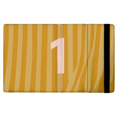 Number 1 Line Vertical Yellow Pink Orange Wave Chevron Apple Ipad 2 Flip Case by Mariart