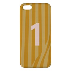 Number 1 Line Vertical Yellow Pink Orange Wave Chevron Apple Iphone 5 Premium Hardshell Case by Mariart