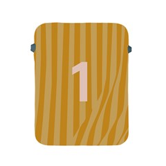 Number 1 Line Vertical Yellow Pink Orange Wave Chevron Apple Ipad 2/3/4 Protective Soft Cases