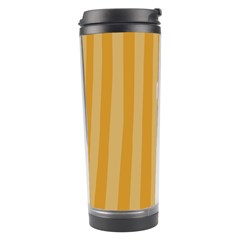 Number 1 Line Vertical Yellow Pink Orange Wave Chevron Travel Tumbler by Mariart