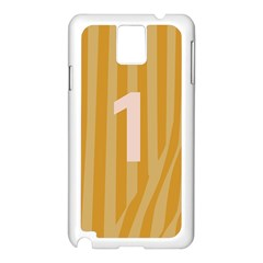 Number 1 Line Vertical Yellow Pink Orange Wave Chevron Samsung Galaxy Note 3 N9005 Case (white) by Mariart
