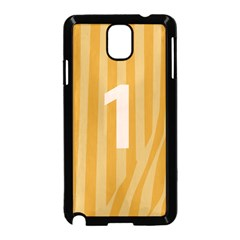 Number 1 Line Vertical Yellow Pink Orange Wave Chevron Samsung Galaxy Note 3 Neo Hardshell Case (black) by Mariart