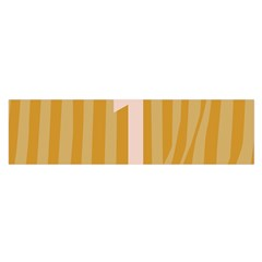 Number 1 Line Vertical Yellow Pink Orange Wave Chevron Satin Scarf (oblong) by Mariart