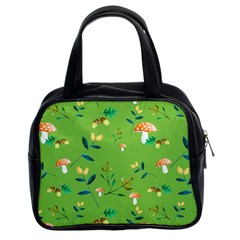 Mushrooms Flower Leaf Tulip Classic Handbags (2 Sides) by Mariart