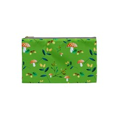 Mushrooms Flower Leaf Tulip Cosmetic Bag (small)  by Mariart