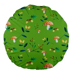 Mushrooms Flower Leaf Tulip Large 18  Premium Round Cushions by Mariart