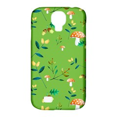 Mushrooms Flower Leaf Tulip Samsung Galaxy S4 Classic Hardshell Case (pc+silicone) by Mariart
