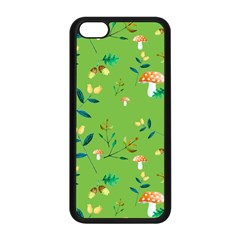 Mushrooms Flower Leaf Tulip Apple Iphone 5c Seamless Case (black) by Mariart