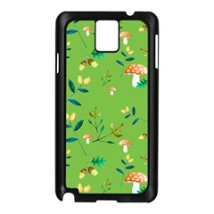 Mushrooms Flower Leaf Tulip Samsung Galaxy Note 3 N9005 Case (black)