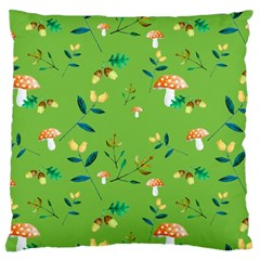 Mushrooms Flower Leaf Tulip Standard Flano Cushion Case (two Sides) by Mariart