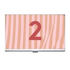 Number 2 Line Vertical Red Pink Wave Chevron Business Card Holders by Mariart