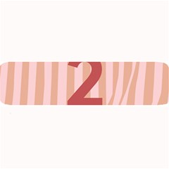 Number 2 Line Vertical Red Pink Wave Chevron Large Bar Mats by Mariart