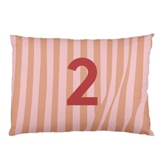 Number 2 Line Vertical Red Pink Wave Chevron Pillow Case by Mariart
