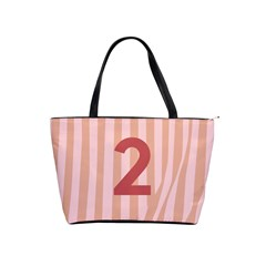 Number 2 Line Vertical Red Pink Wave Chevron Shoulder Handbags by Mariart