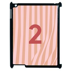 Number 2 Line Vertical Red Pink Wave Chevron Apple Ipad 2 Case (black) by Mariart