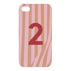 Number 2 Line Vertical Red Pink Wave Chevron Apple Iphone 4/4s Hardshell Case by Mariart