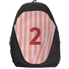Number 2 Line Vertical Red Pink Wave Chevron Backpack Bag by Mariart