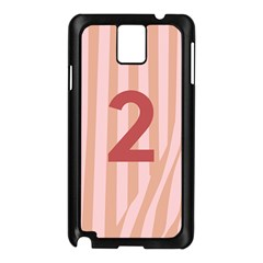 Number 2 Line Vertical Red Pink Wave Chevron Samsung Galaxy Note 3 N9005 Case (black) by Mariart