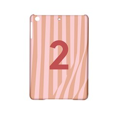 Number 2 Line Vertical Red Pink Wave Chevron Ipad Mini 2 Hardshell Cases by Mariart