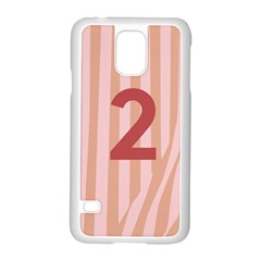 Number 2 Line Vertical Red Pink Wave Chevron Samsung Galaxy S5 Case (white) by Mariart