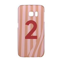 Number 2 Line Vertical Red Pink Wave Chevron Galaxy S6 Edge by Mariart