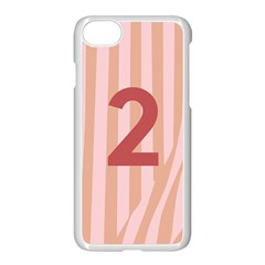 Number 2 Line Vertical Red Pink Wave Chevron Apple Iphone 7 Seamless Case (white) by Mariart