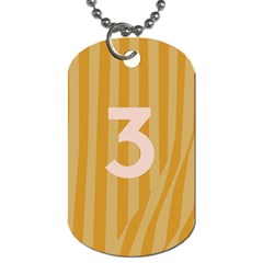 Number 3 Line Vertical Yellow Pink Orange Wave Chevron Dog Tag (two Sides) by Mariart