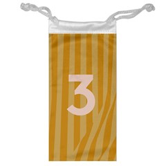 Number 3 Line Vertical Yellow Pink Orange Wave Chevron Jewelry Bag by Mariart