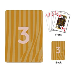 Number 3 Line Vertical Yellow Pink Orange Wave Chevron Playing Card by Mariart